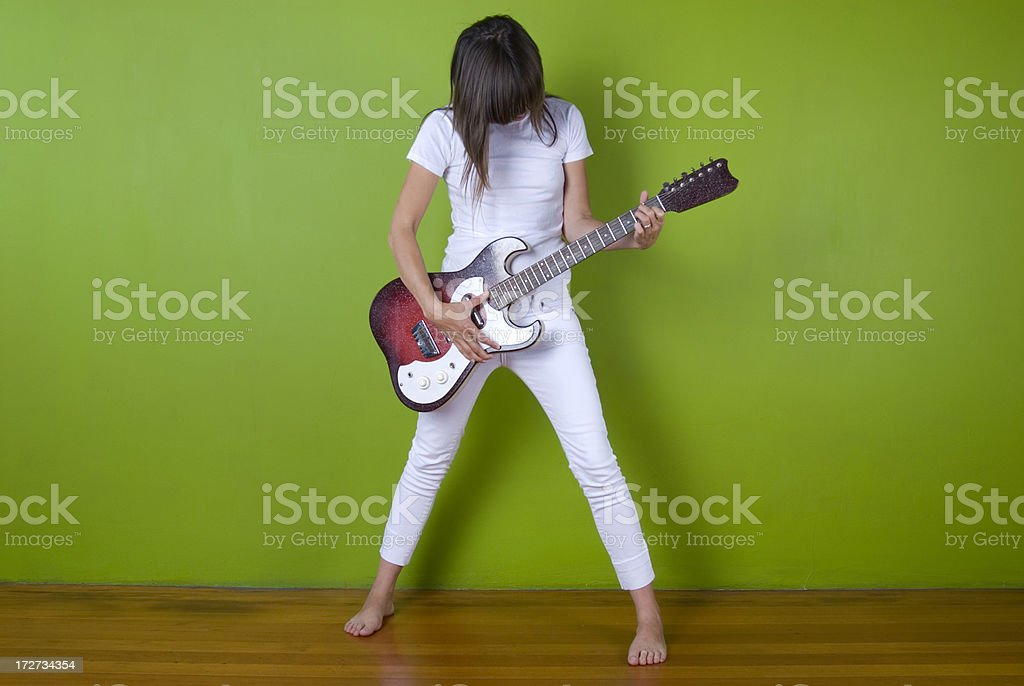 Rock and Roll Grrrl!!! royalty-free stock photo
