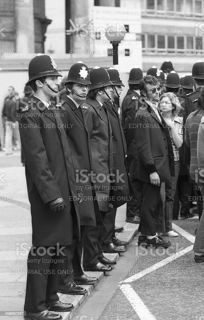 Rock and Roll Radio Campaign march, London stock photo