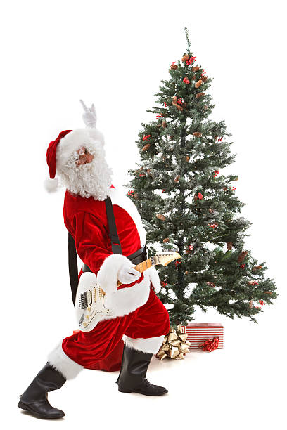 rock and roll santa claus - carolinemaryan stock pictures, royalty-free photos & images