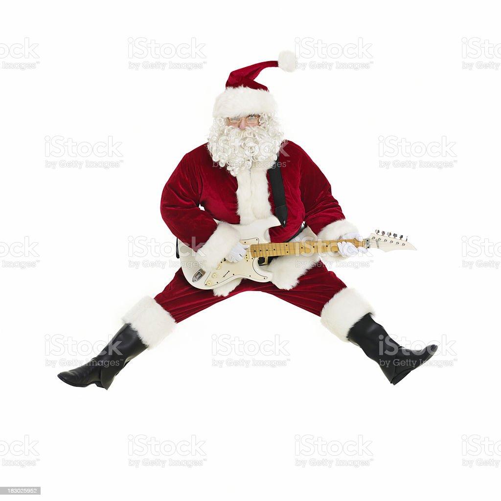 Rock and Roll Santa royalty-free stock photo