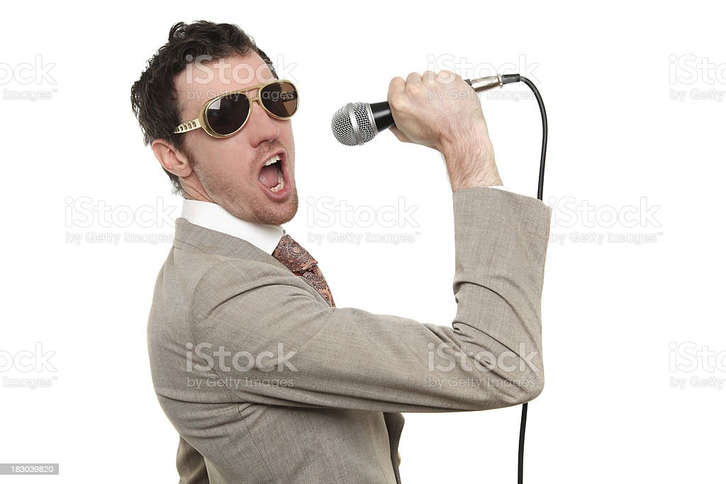 Rock and roll singer royalty-free stock photo