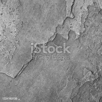 Gray stone background. Mountains texture closeup. White rock texture. Volumetric rocky texture grunge background. Natural rock block. Detail.