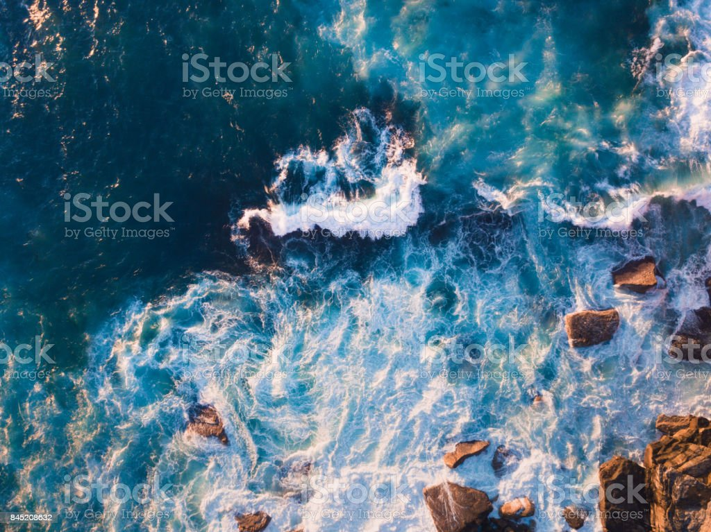 Rock and Water stock photo