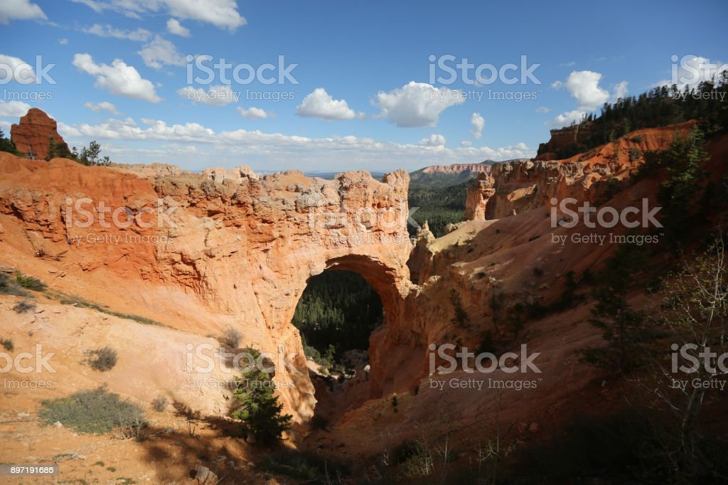 Rock Arch in Arizona stock photo