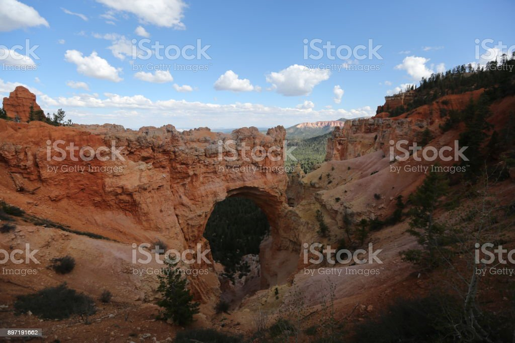 Rock Arch in Grand canyon stock photo