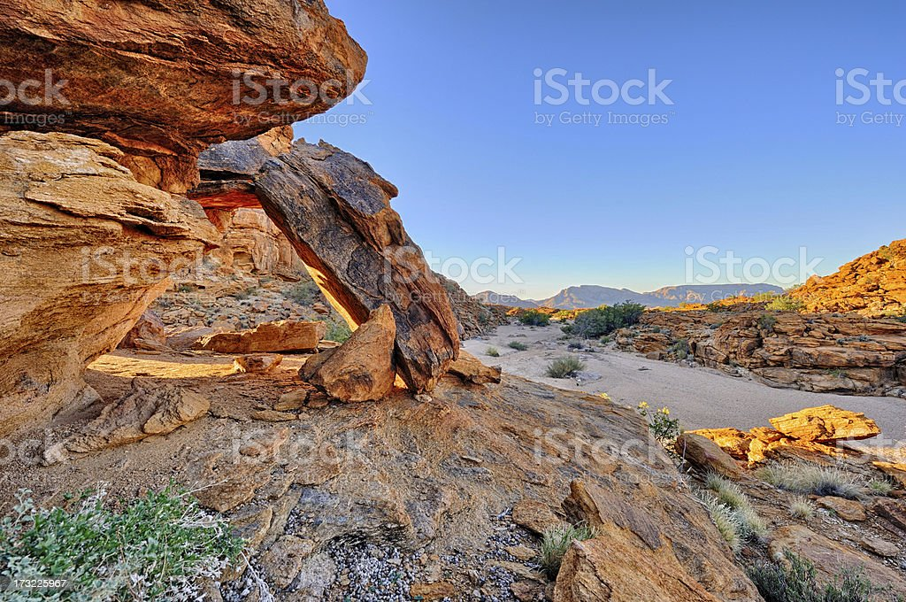Rock arch in the desert royalty-free stock photo