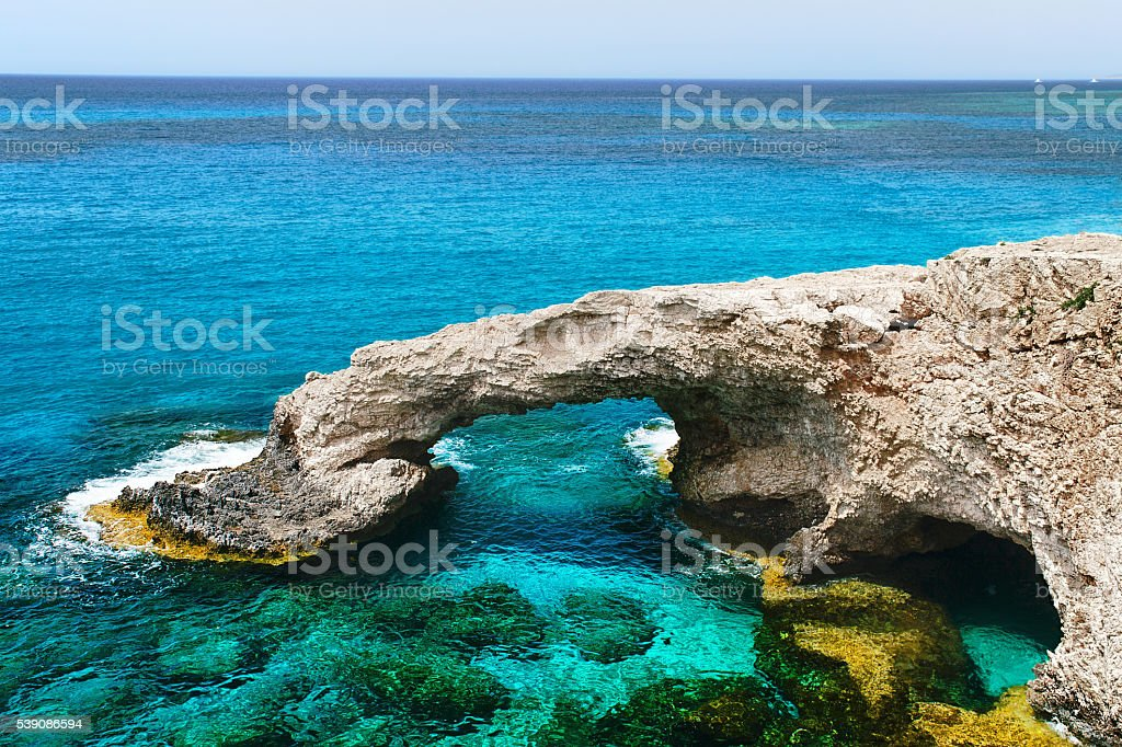 rock arch pirate caves stock photo