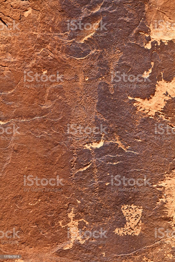 Rock Art Figure stock photo