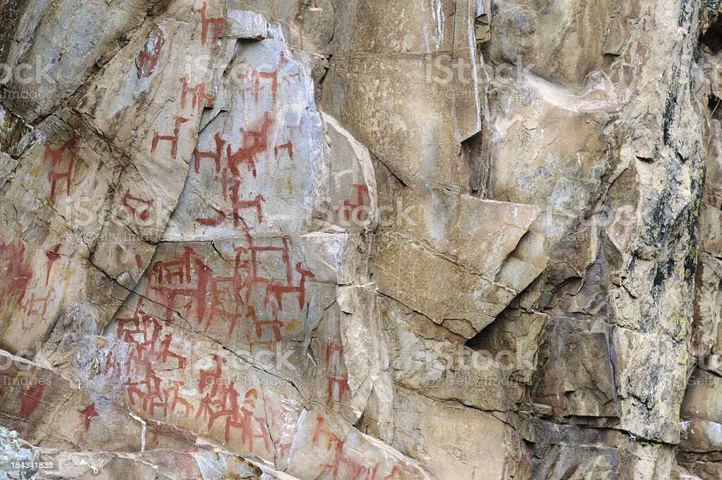 Rock Art in Peru royalty-free stock photo