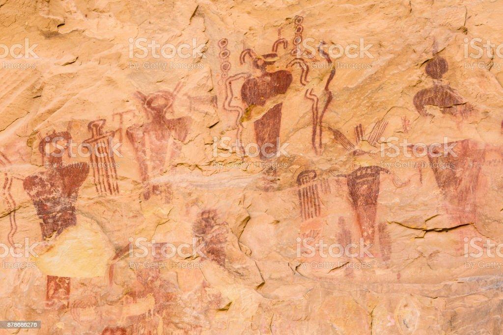 Rock Art of Sego Canyon stock photo