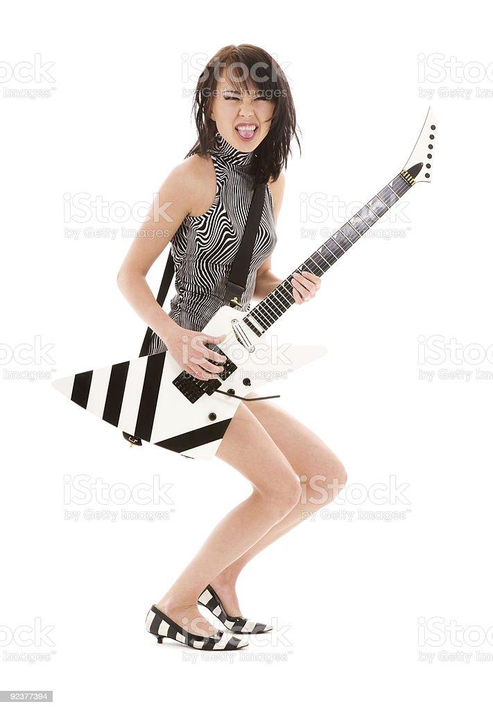 rock babe royalty-free stock photo