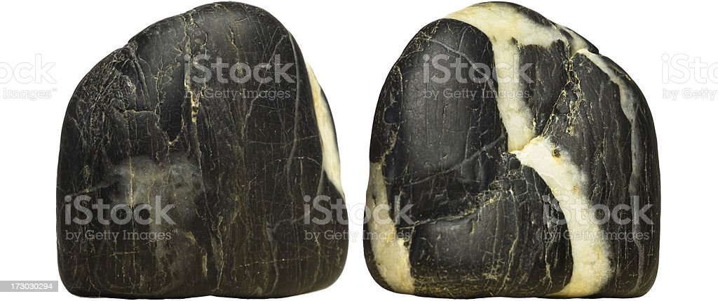 Rock - Back and front stock photo