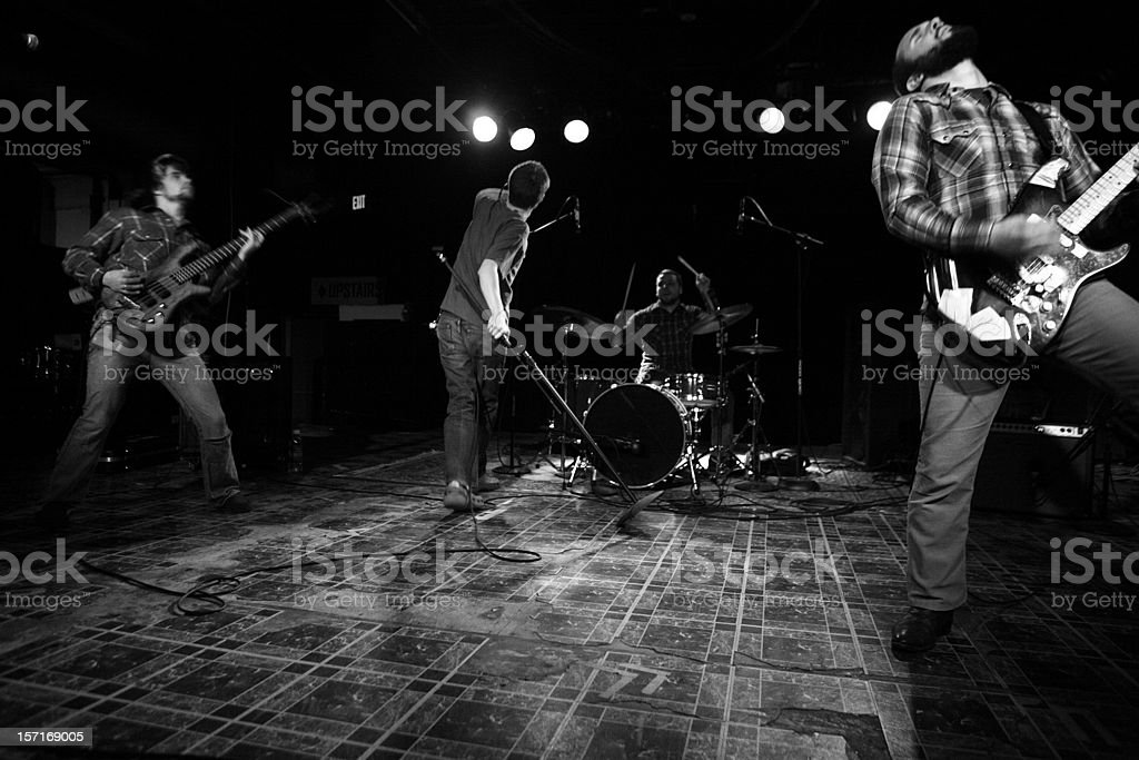 Rock Band Getting Into The Music. royalty-free stock photo