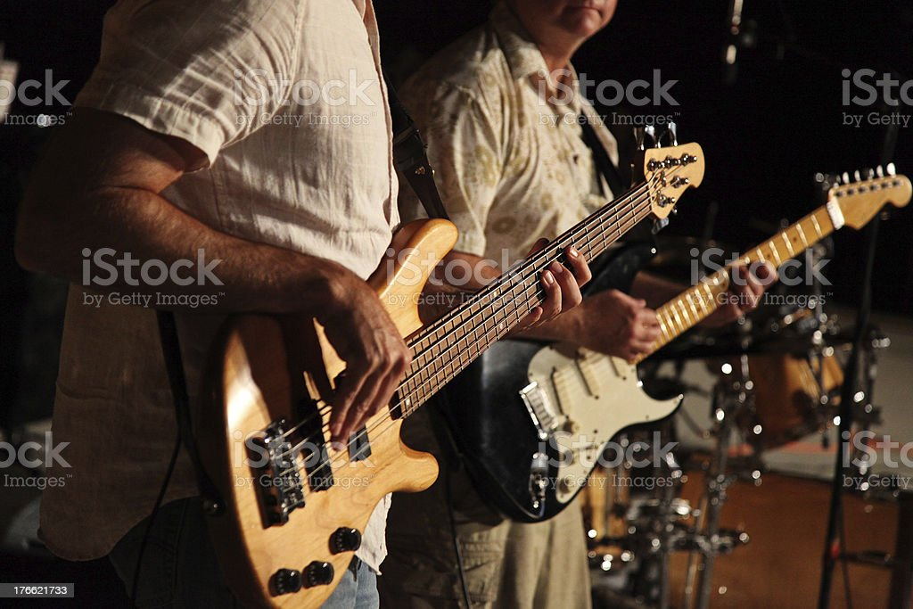 Rock Band Guitarists stock photo