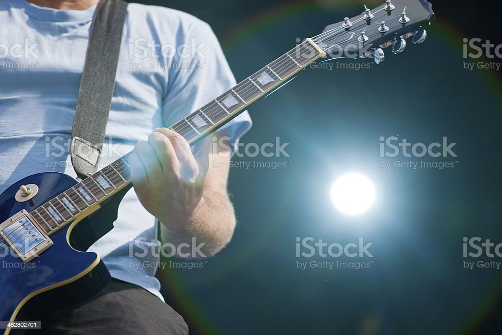 Rock band live royalty-free stock photo