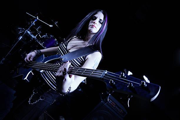 rock band - damen rock kostüme stock-fotos und bilder