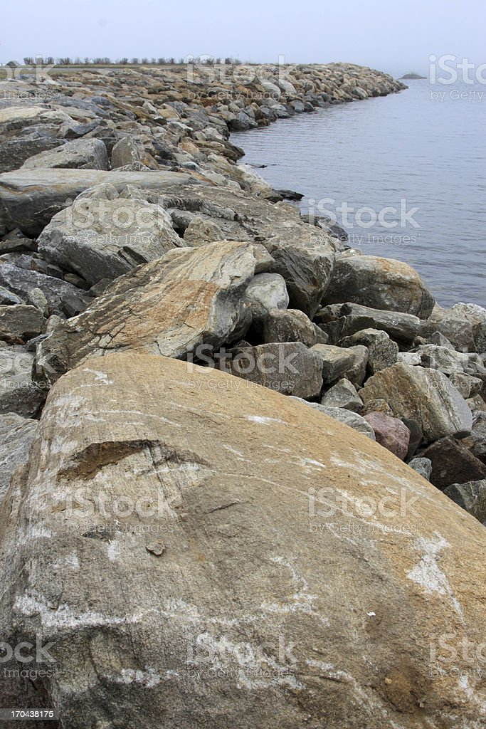 rock barrier royalty-free stock photo