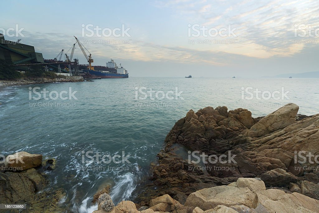 Rock bay royalty-free stock photo