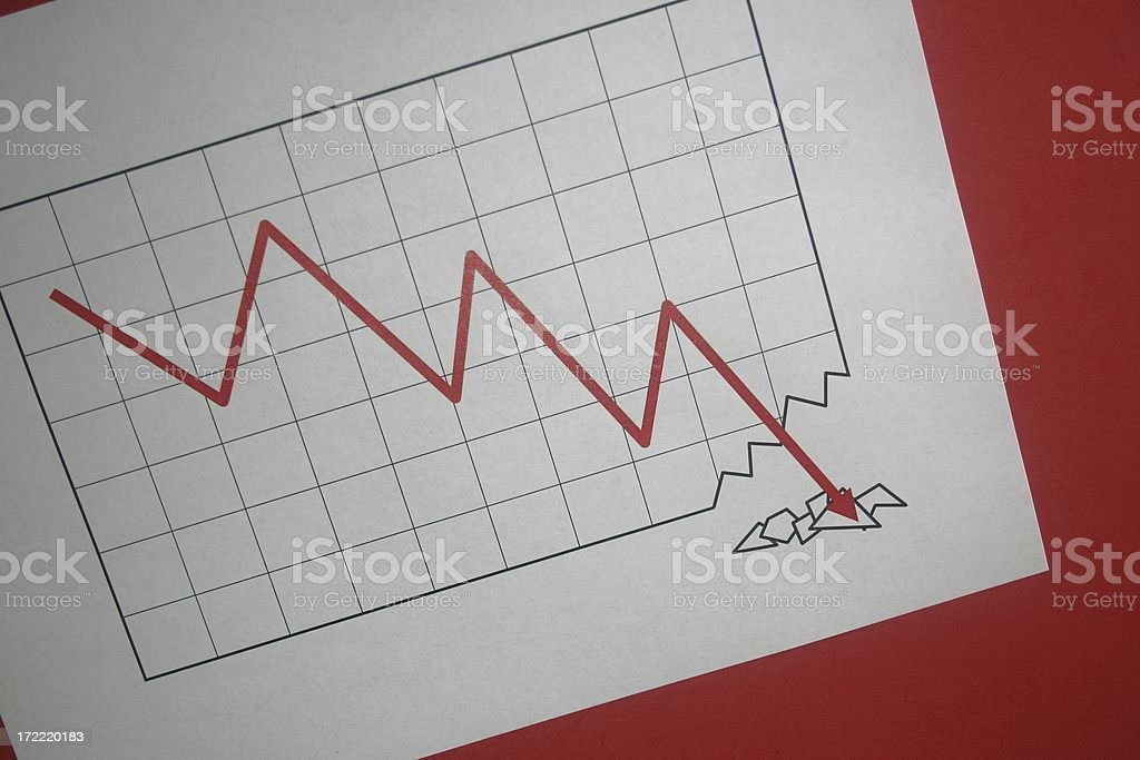 Rock bottom is the limit stock photo
