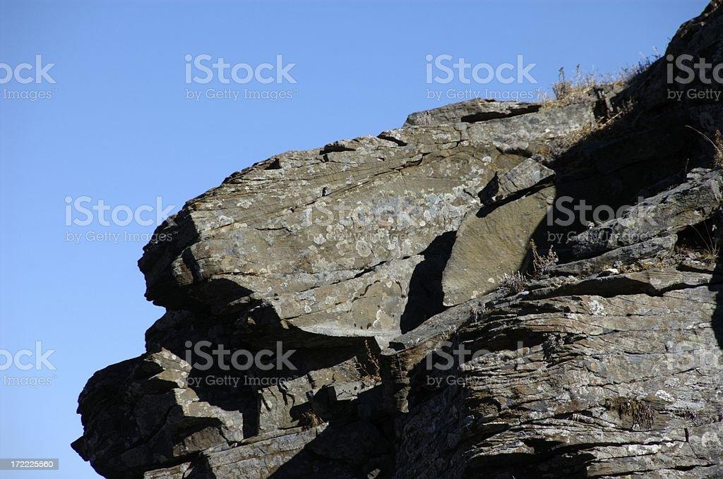 Rock boulders @ Syue Shan (Taiwan Central Mountain Range) stock photo