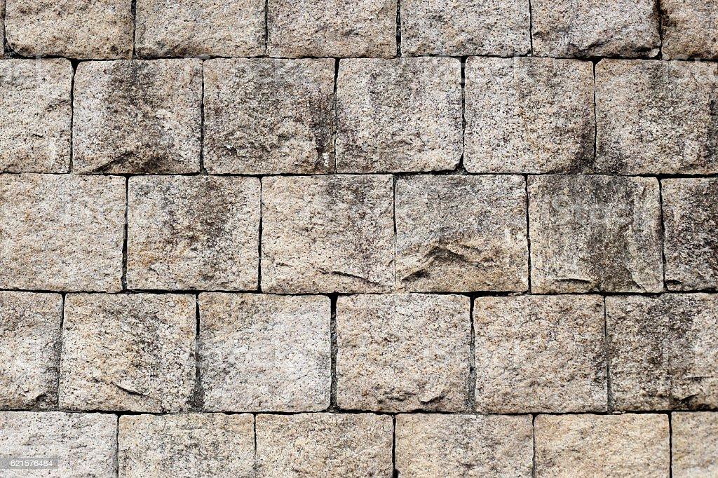 Rock mur de briques pour le fond. photo libre de droits