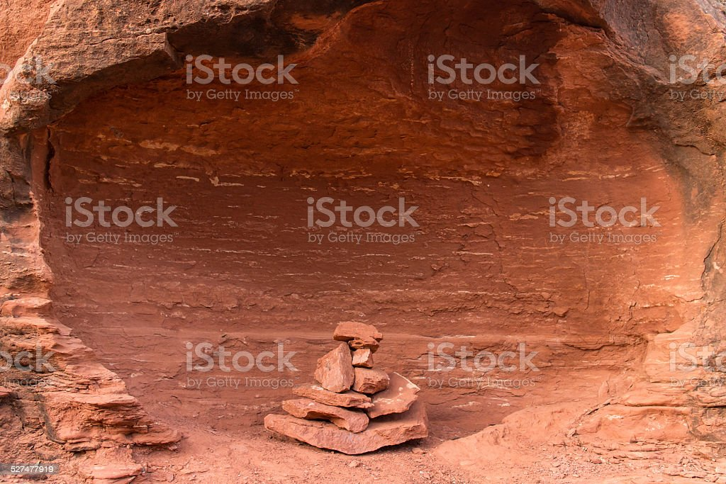 Rock Cairn stock photo