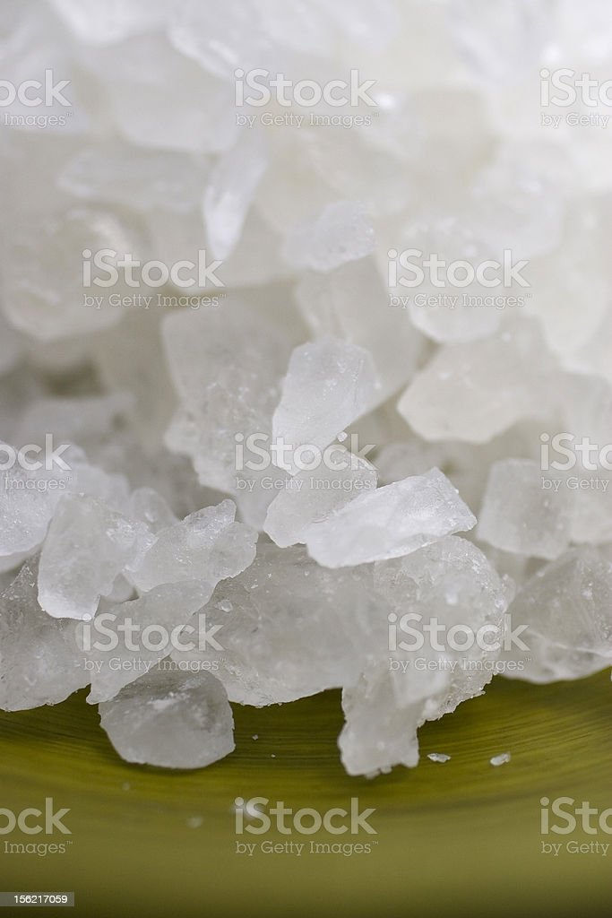 Rock Candy in Green Bowl royalty-free stock photo