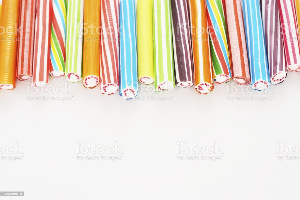 rock candy sticks stock photo