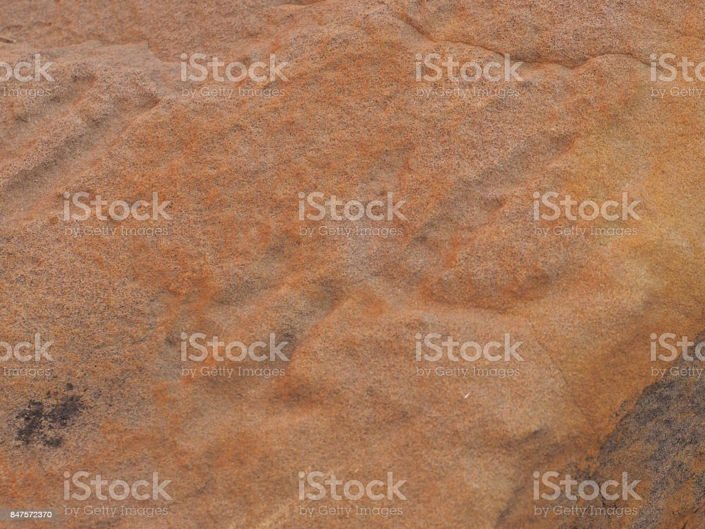 Rock carving Petroglyph on red rock surface at N'Dhala Gorge stock photo