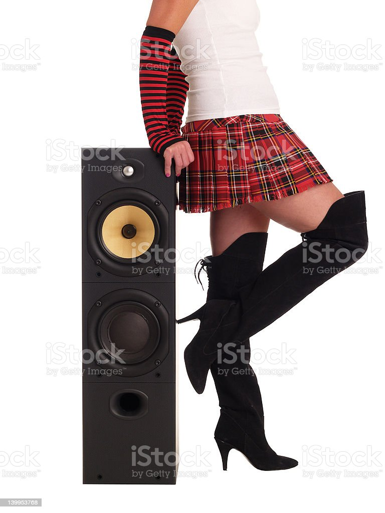 Rock Chick royalty-free stock photo