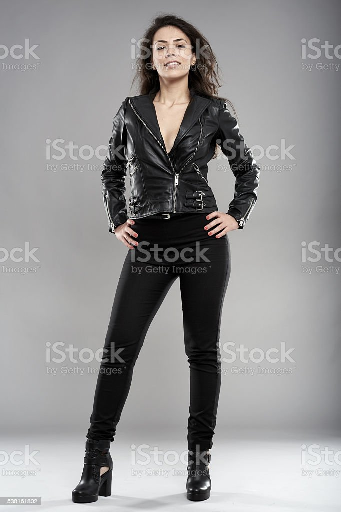 Rock chick stock photo