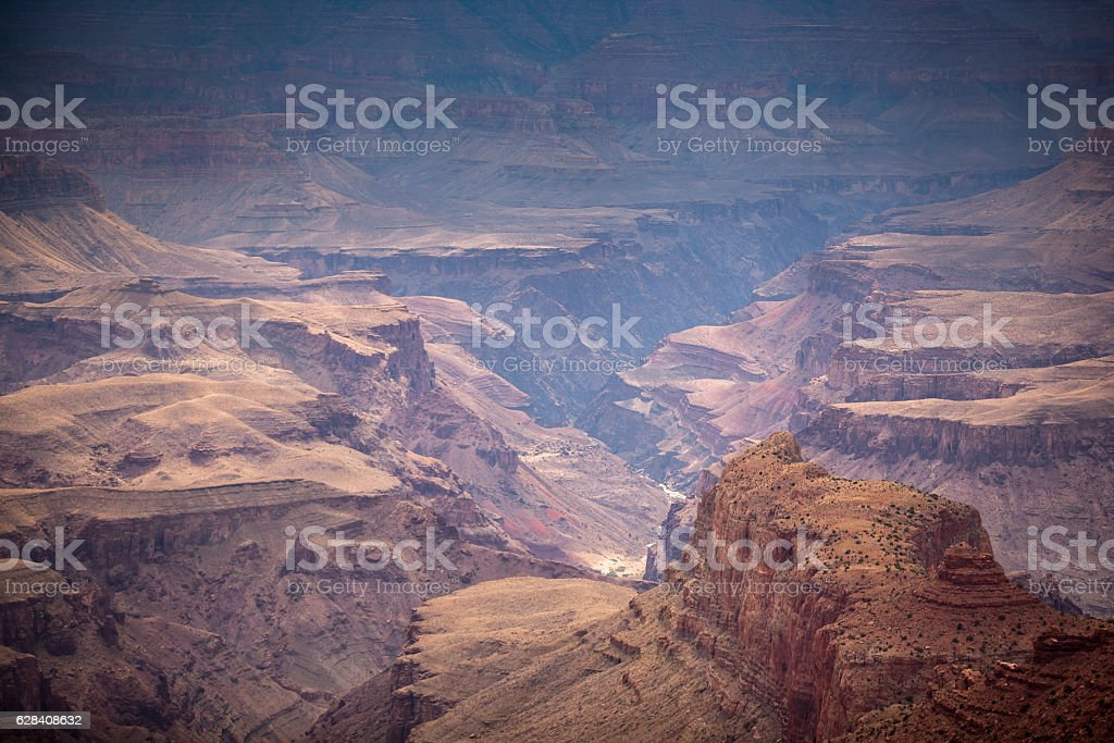 Rock Chimnies in the Grand Canyon stock photo