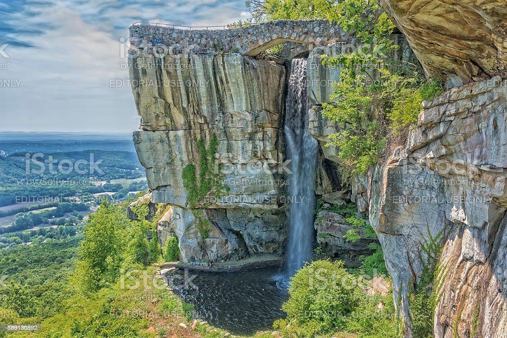 Rock City Lookout Mountain In Georgia stock photo