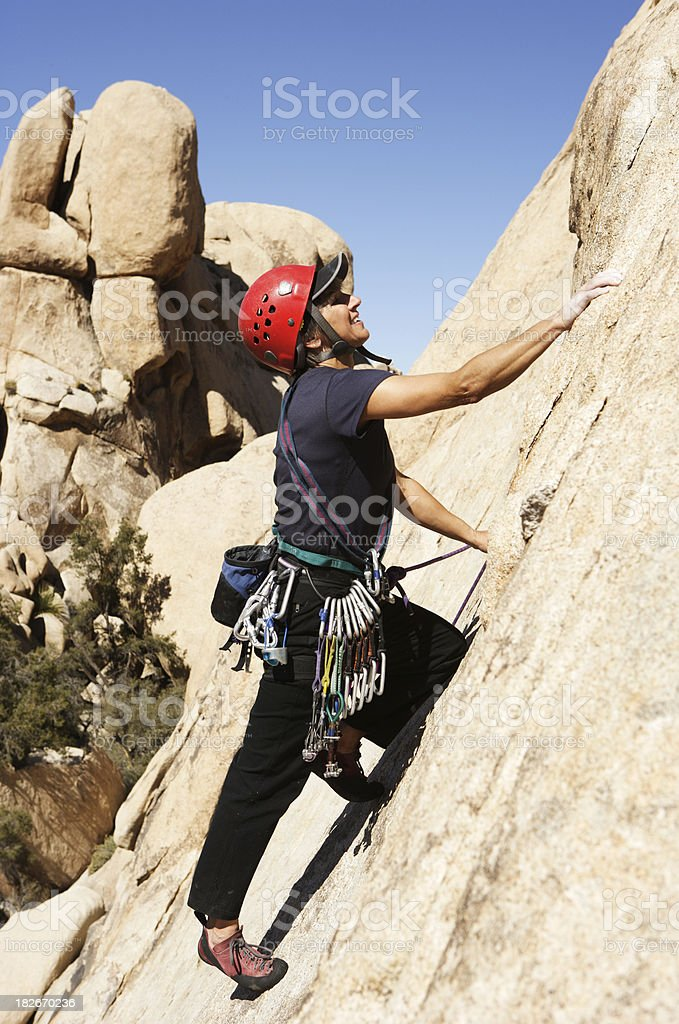 Rock Climber on Nomad Dome royalty-free stock photo