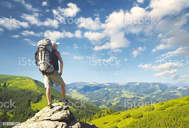 Photo of Rock climber on the peak