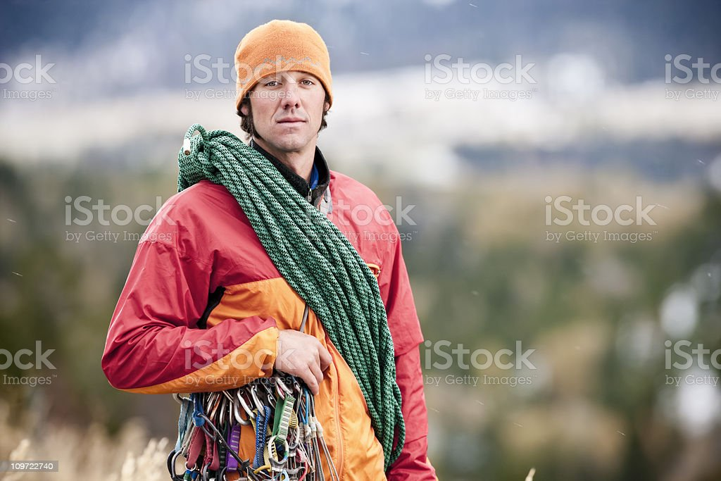 Rock Climber Portrait royalty-free stock photo