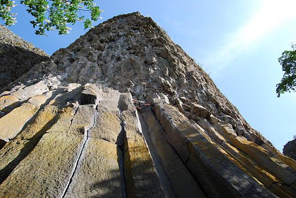 Rock Climber Way High Up! stock photo