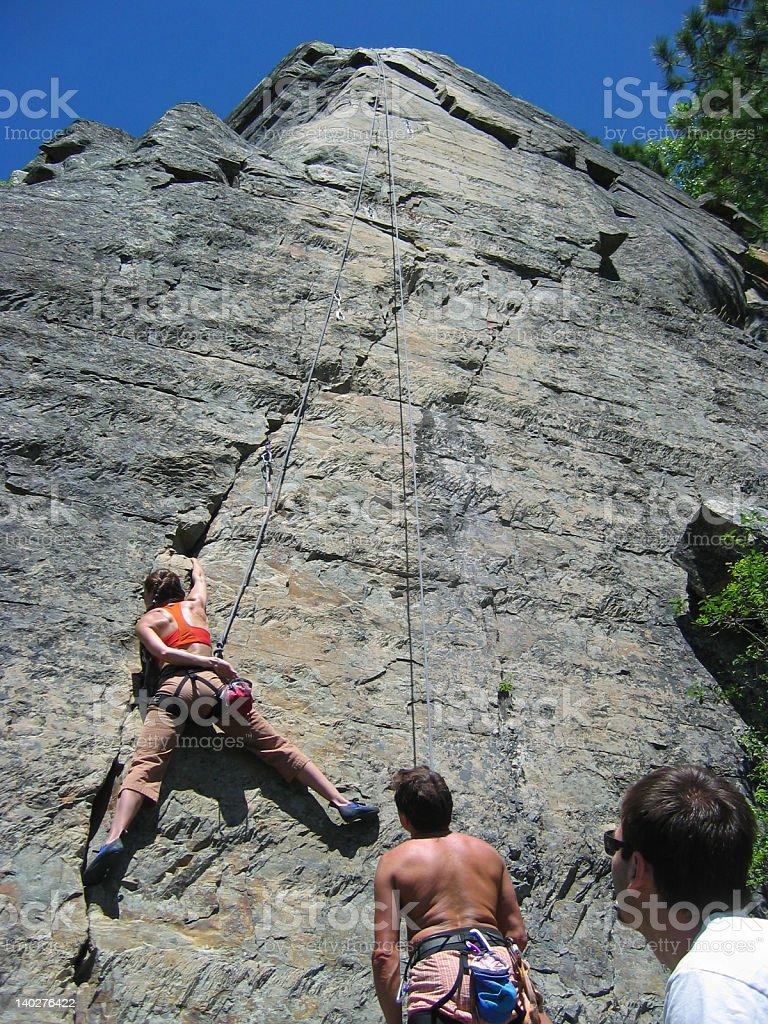 Rock Climbers at Stonehills, Montana royalty-free stock photo