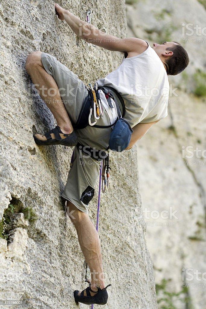Rock Climbing 7b royalty-free stock photo