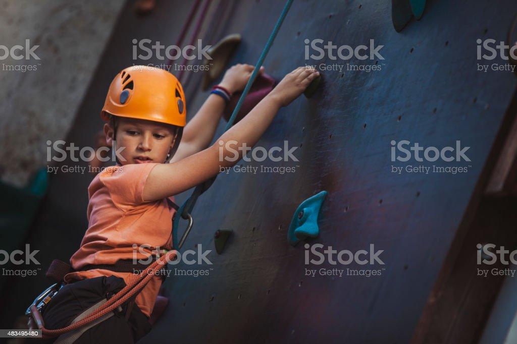 Klettern Jungen – Foto