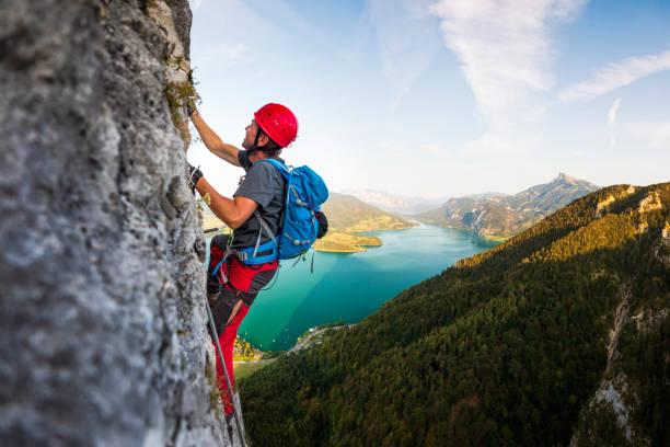 Klettern in den Alpen – Foto