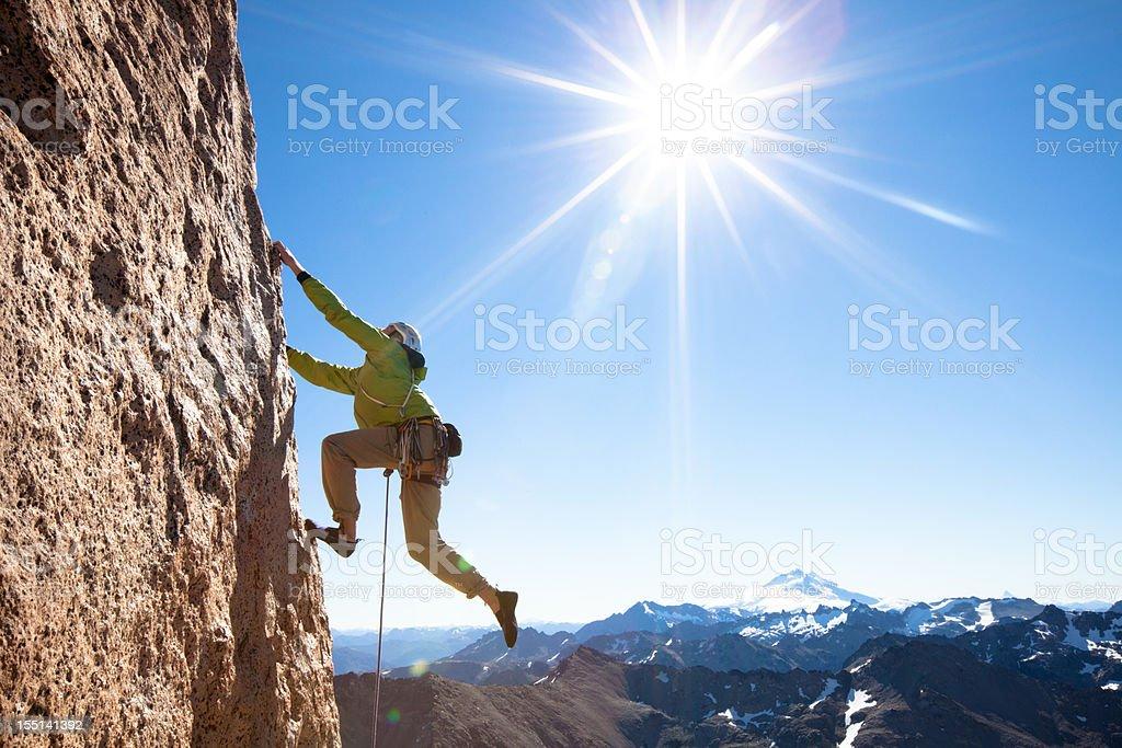 Rock Climbing in Patagonia royalty-free stock photo