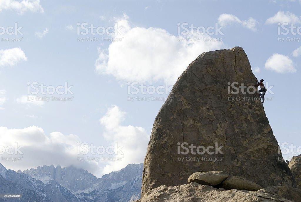 Alpinismo en Sierra de colinas foto de stock libre de derechos