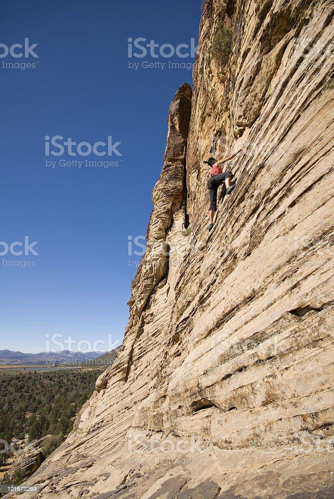 Rock Climbing royalty-free stock photo