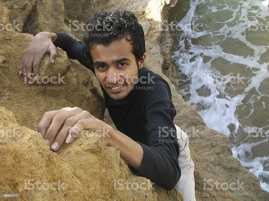 Rock Climbing royalty-free stock photo