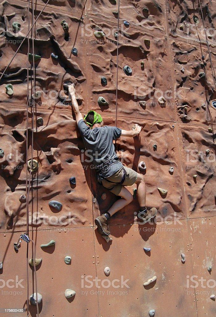 rock climbing wall 2 royalty-free stock photo