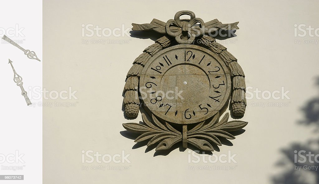 Rock Clock royalty-free stock photo