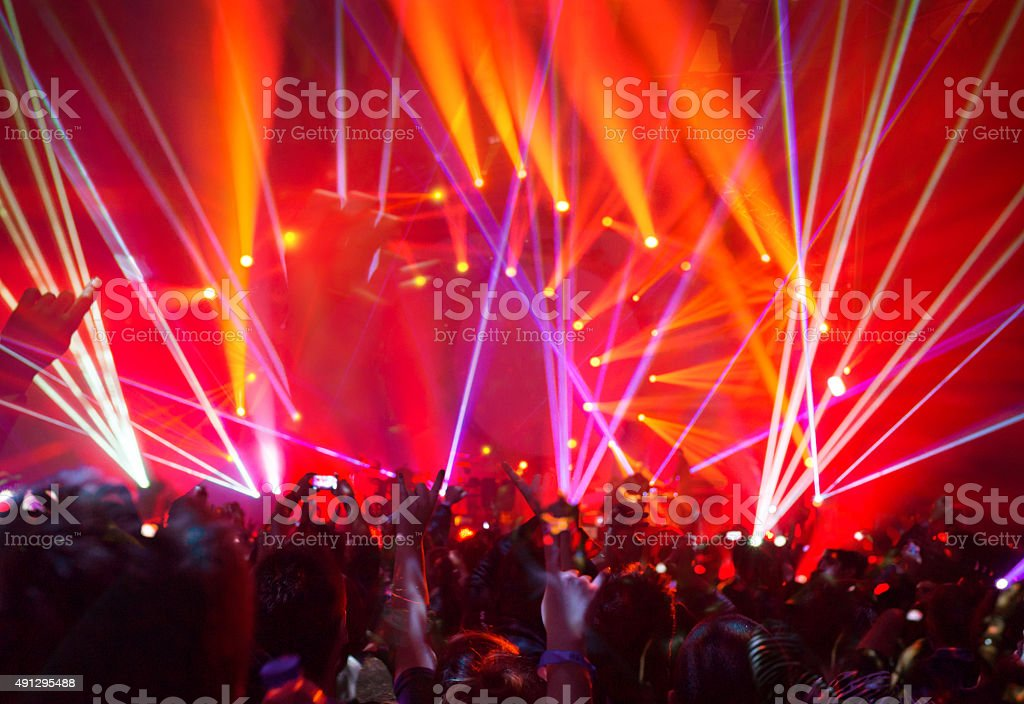 Rock concert background stock photo
