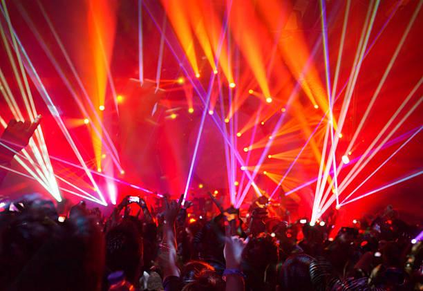 rock concert background - disco lights bildbanksfoton och bilder