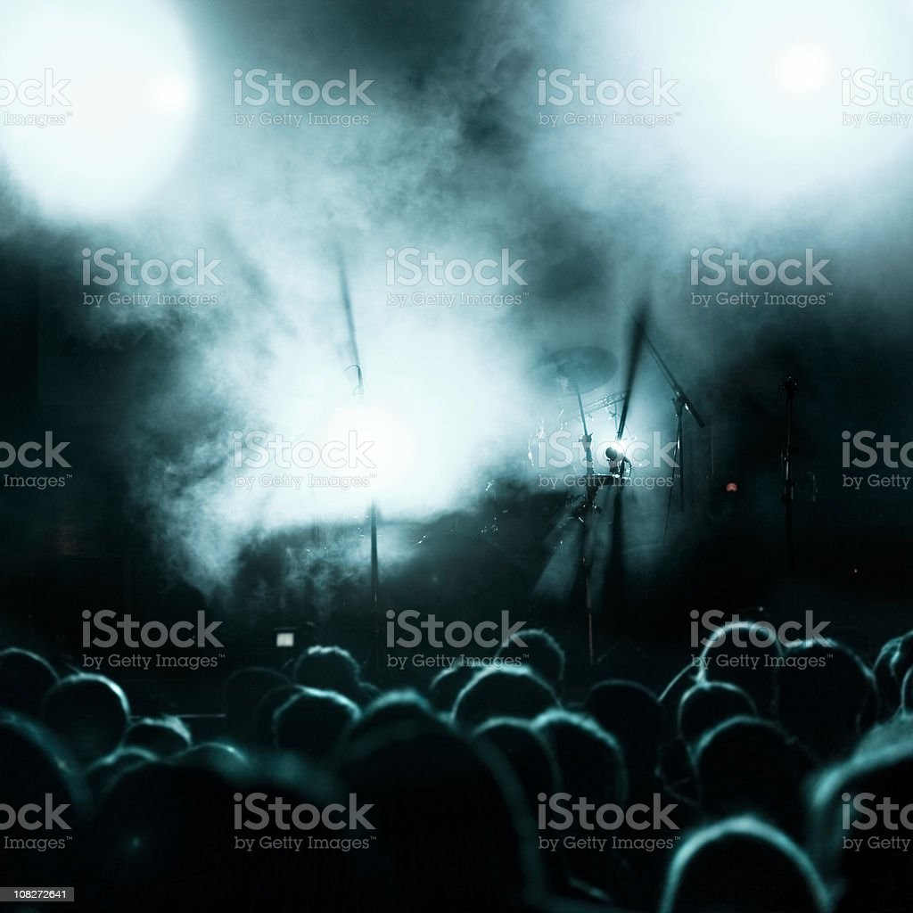 Rock concert lightshow royalty-free stock photo